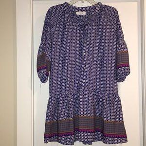 Button down drop waist dress